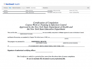 Northwell Health - Certificate Generation and Score Keeping